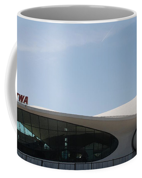 Architecture Coffee Mug featuring the photograph T W A Terminal by Rob Hans