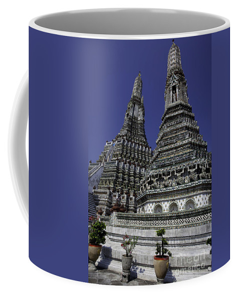 Architecture Coffee Mug featuring the photograph Temple Detail In Bangkok Thialand by Anthony Totah