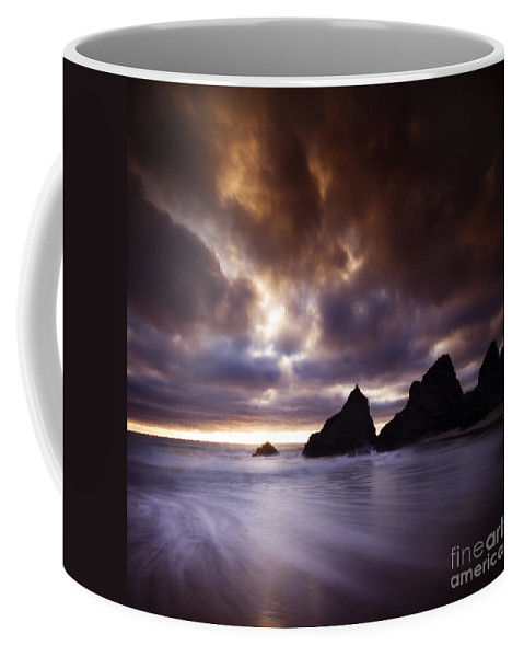 Sea Coffee Mug featuring the photograph The Bedruthan Steps by Angel Tarantella