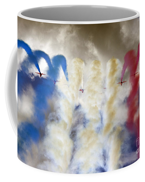 Red Arrows Coffee Mug featuring the photograph The Big 9 by Angel Ciesniarska