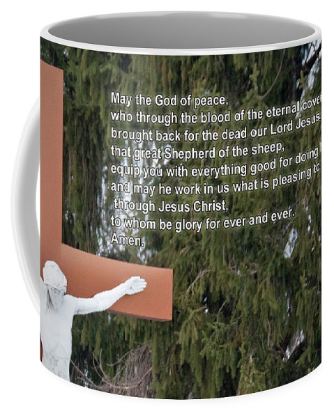 Easter Coffee Mug featuring the photograph The Cross by David Arment