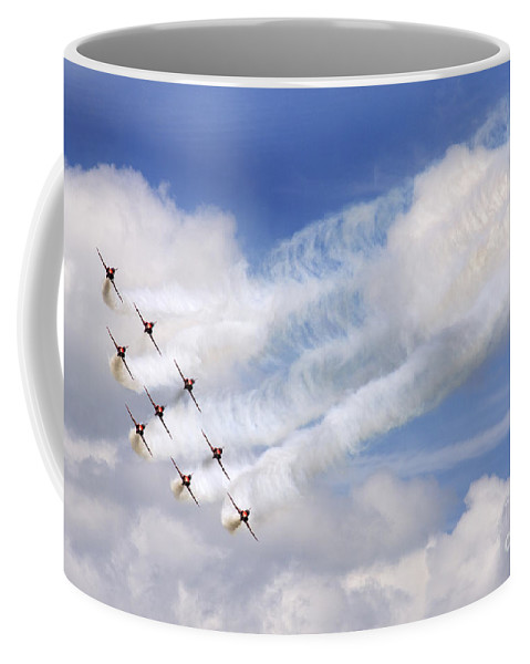 Red Arrows Coffee Mug featuring the photograph The Diamond Bend by Angel Ciesniarska