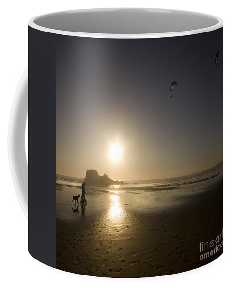 Kite Coffee Mug featuring the photograph The Flying Ones by Angel Tarantella