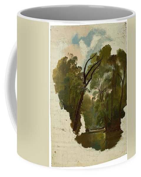 The Forest Coffee Mug featuring the painting The Forest by MotionAge Designs