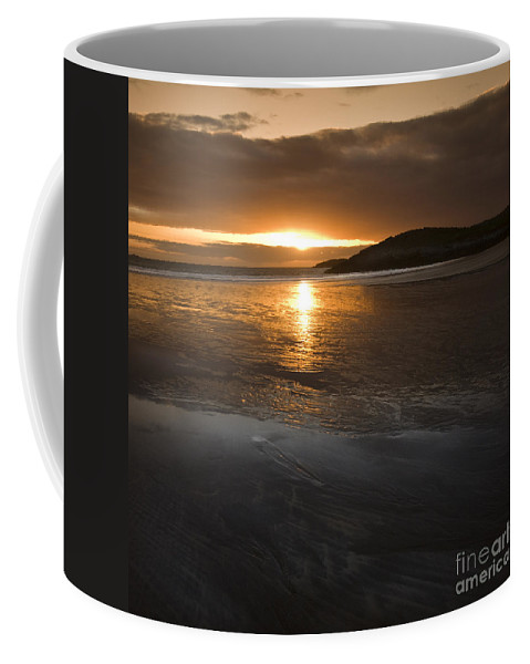Sunset Coffee Mug featuring the photograph The Low Tide by Angel Ciesniarska