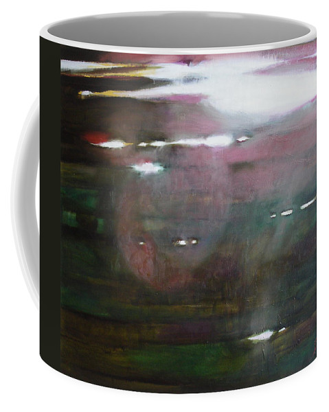 Oil Coffee Mug featuring the painting The Parallel World by Sergey Ignatenko