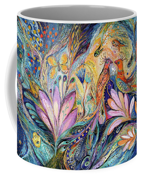 Original Coffee Mug featuring the painting The Sea Song by Elena Kotliarker