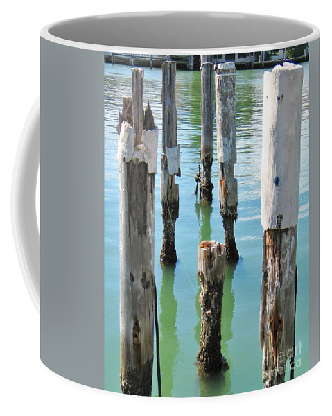 Docks Coffee Mug featuring the photograph The Signs Of Time by Rene Triay Photography