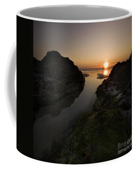 Beach Coffee Mug featuring the photograph The Sunset by Angel Tarantella