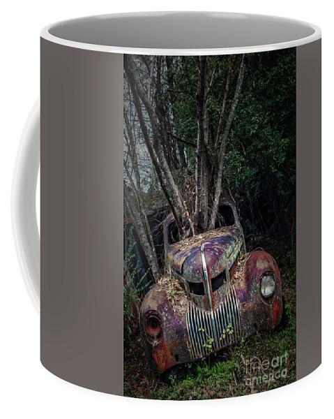 Vintage Cars Coffee Mug featuring the photograph 2 Ton Flower Pot by Doug Sturgess