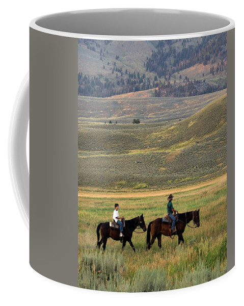 Horse Coffee Mug featuring the photograph Trail Ride by Marty Koch