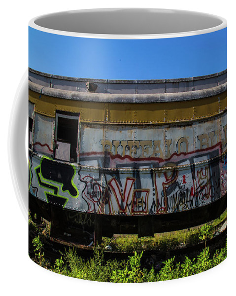Train Art Coffee Mug featuring the photograph Train Art by Dart Humeston