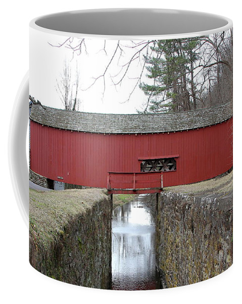 Uhlerstown Coffee Mug featuring the photograph Uhlerstown Covered Bridge by Ken Keener