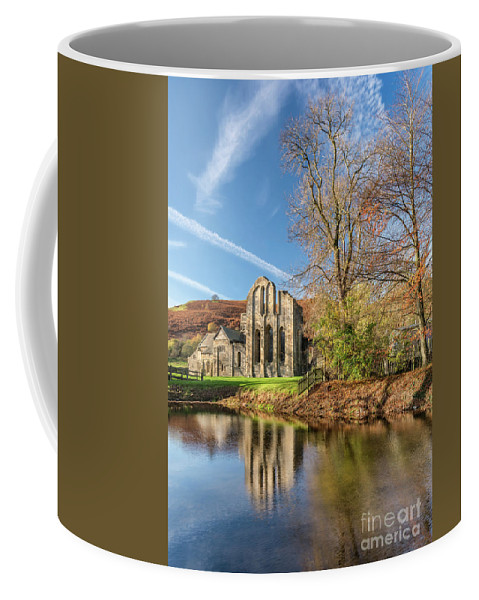 Valle Crucis Coffee Mug featuring the photograph Valle Crucis Abbey by Adrian Evans