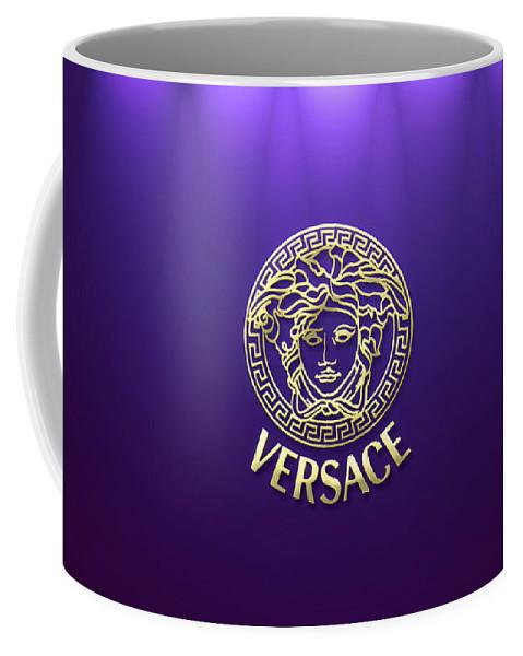 818570c1 Versace Coffee Mug featuring the digital art Versace by Aaron De Wulf