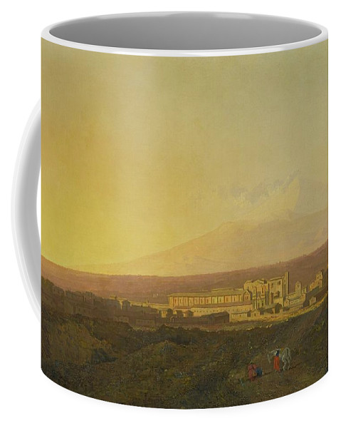 Joseph Wright Of Derby Coffee Mug featuring the painting View Of Catania by Joseph Wright