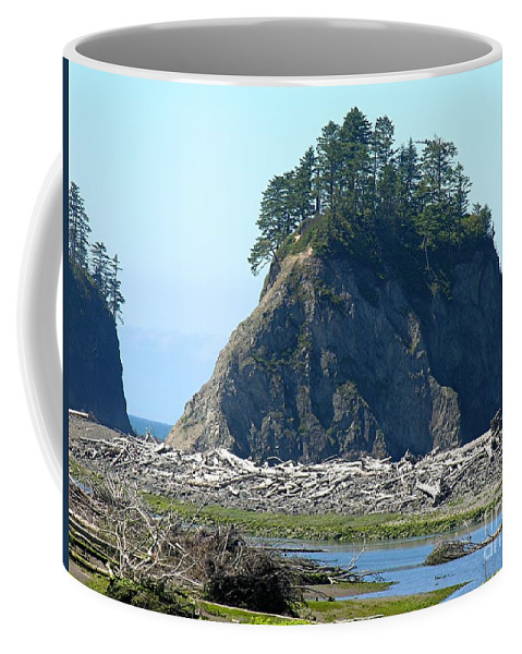 Ocean Coffee Mug featuring the photograph Washington Coast by Diane Greco-Lesser