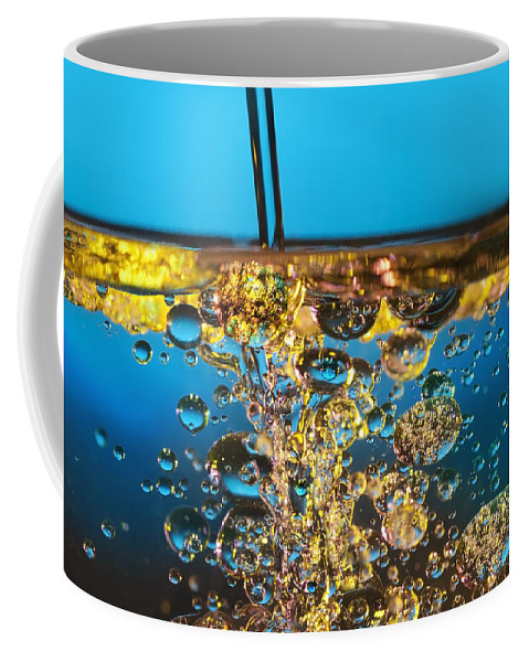 Abstract Coffee Mug featuring the photograph Water And Oil by Setsiri Silapasuwanchai