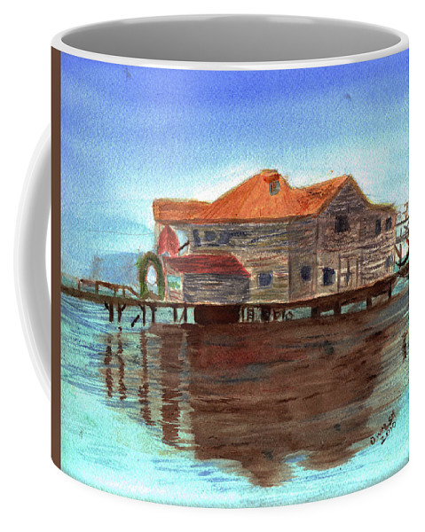 Water Coffee Mug featuring the painting West End Roatan by Donna Walsh