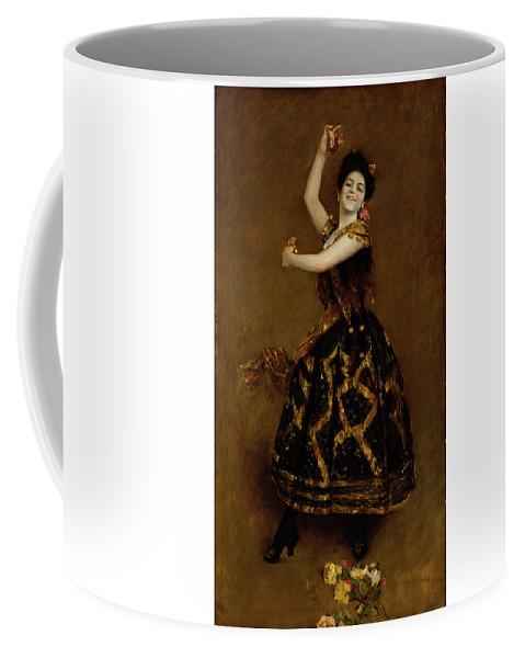 Carmencita Coffee Mug featuring the digital art William Merritt Chase by Mark Carlson