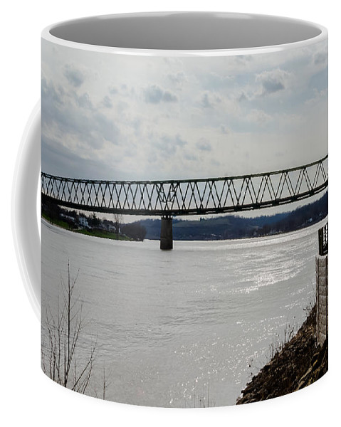 Bridge Coffee Mug featuring the photograph Williamstown Bridge by Jan M Holden