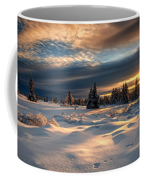 Winter Coffee Mug featuring the digital art Winter by Zia Low