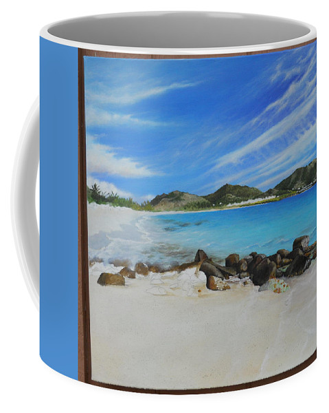 Coffee Mug featuring the painting Wip- Orient Beach by Cindy D Chinn