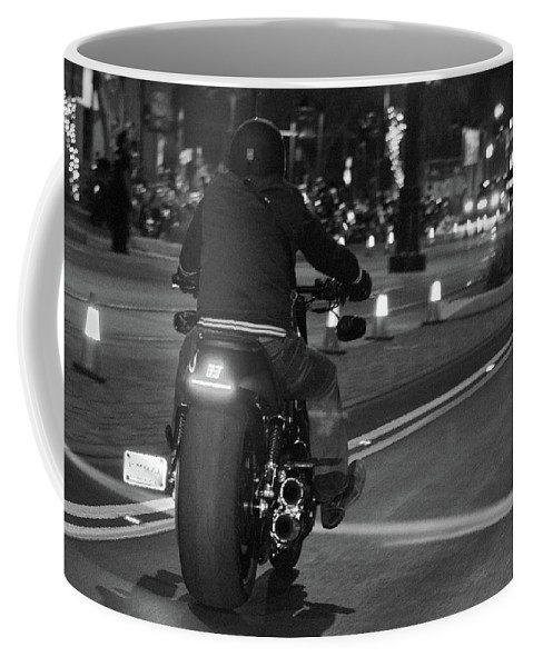 Motorcycles Coffee Mug featuring the photograph Motorcycles On Main by Marit Runyon