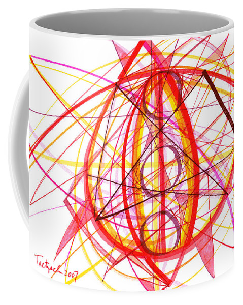 Abstract Coffee Mug featuring the drawing 2007 Abstract Drawing 6 by Lynne Taetzsch