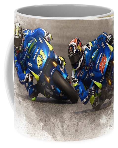Formula 1 Coffee Mug featuring the digital art 2015 Catalunya Top Motogp Saturday by Don Kuing