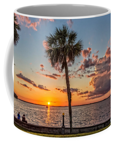 Christopher Holmes Photography Coffee Mug featuring the photograph Sunset Over Lake Eustis by Christopher Holmes