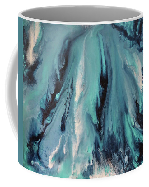 Abstract Contemporary Art By Michael Quinn Coffee Mug featuring the painting 2016 Pangea 29 by Michael Quinn