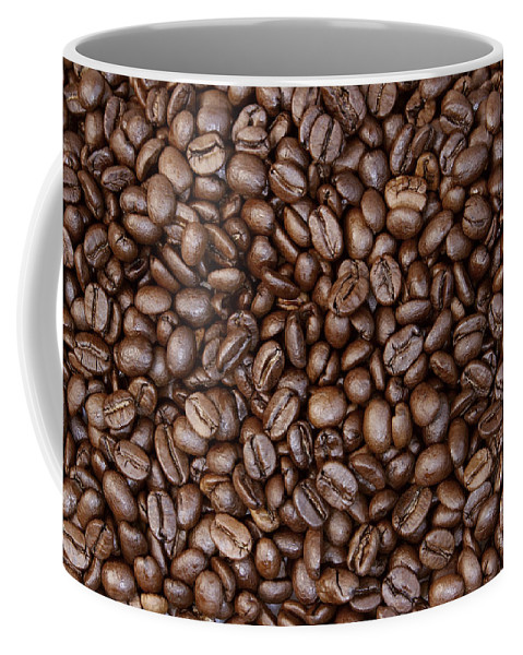 Bean Coffee Mug featuring the photograph Coffee Beans by Les Cunliffe