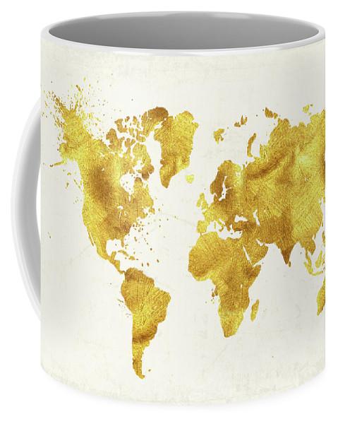 24 Karat World Gold World Map Coffee Mug For Sale By Tina Lavoie