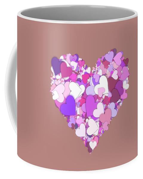 Heart Coffee Mug featuring the digital art Love Heart Valentine Shape by Miroslav Nemecek