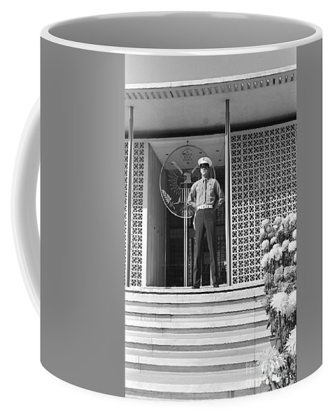 India Coffee Mug featuring the photograph American Embassy New Delhi India by Greg Hager