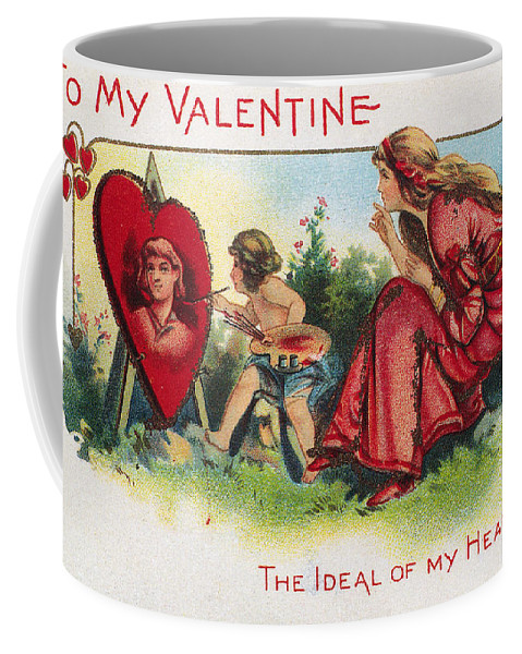1917 Coffee Mug featuring the photograph Valentines Day Card by Granger