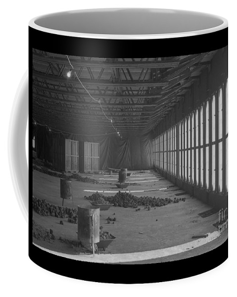 World Trade Center Construction Black And White 1967 Coffee Mug featuring the photograph World Trade Center Under Construction 1967 by Bob Bennett