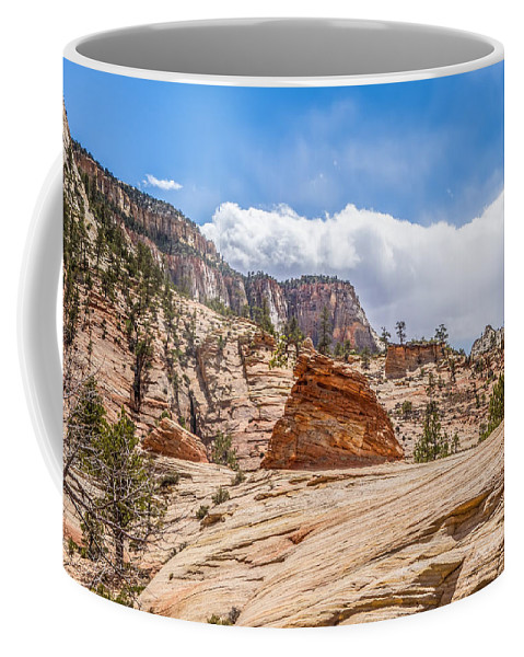 Zion Coffee Mug featuring the photograph Zion Canyon National Park Utah by Alex Grichenko