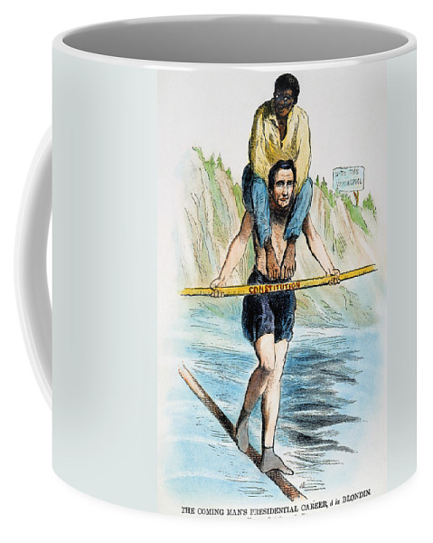 1860 Coffee Mug featuring the photograph Abraham Lincoln by Granger