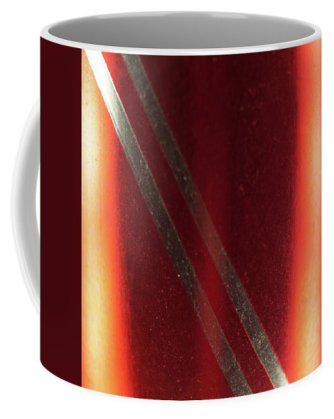 Red Coffee Mug featuring the photograph Macro Of Everyday Object by Diane Schuler