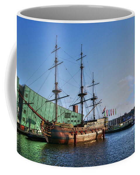 Amsterdam Coffee Mug featuring the digital art 262 Amsterdam by Mark Brooks