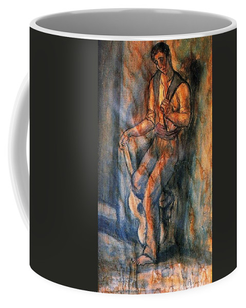 Tattoo Coffee Mug featuring the digital art 26750 Jesus De Perceval by Eloisa Mannion