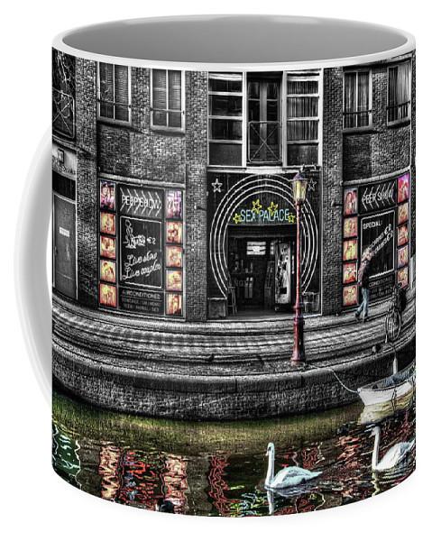 Amsterdam Coffee Mug featuring the digital art 269 Sex Shop by Mark Brooks