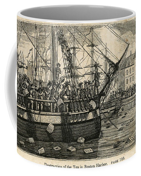 1773 Coffee Mug featuring the painting Boston Tea Party 1773 by Granger