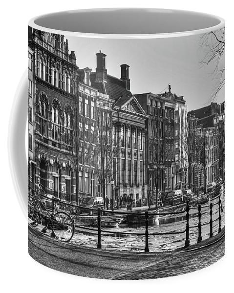 Amsterdam Coffee Mug featuring the digital art 272 Amsterdam by Mark Brooks