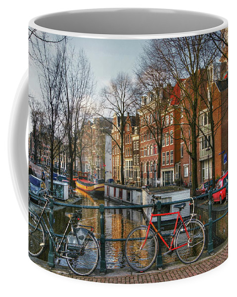 Amsterdam Coffee Mug featuring the digital art 274 Amsterdam by Mark Brooks