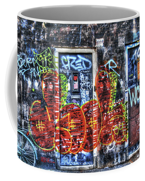 Amsterdam Coffee Mug featuring the digital art 288 Amsterdam by Mark Brooks