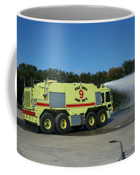 Firefighting Coffee Mug featuring the photograph Firefighting by Tommy Anderson