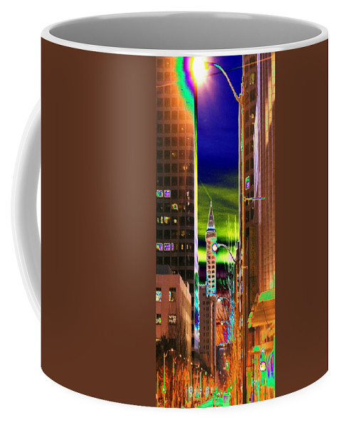 Seattle Coffee Mug featuring the photograph 2nd Avenue Sunrise by Tim Allen